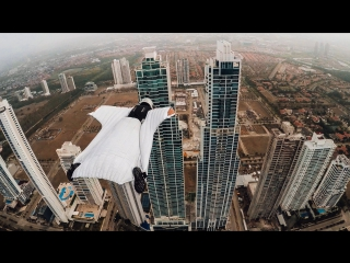 GoPro Roberta Mancino Wingsuits Through Panama City Skyline