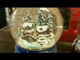 Зимний городок снежный шар