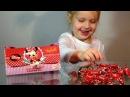 Сюрприз в сюрпризе Открываем подарок конфетки с сюрпризом Детская сумочка подарочные конфеты невероя