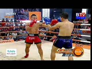 Khmer Boxing, Vong Noy Vs. Long SovanDeun, BTV Boxing, 03 January 2016