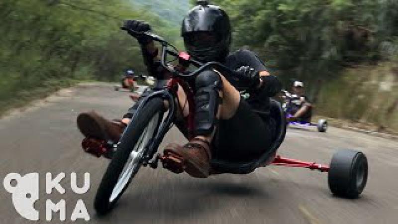 Trike Drifting - Bombing Mountains on Adult Big Wheels!