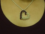 How to make small heart pendant with pearls DIY Valentine's day project