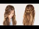 Легкие прически на длинные волосы своими руками Прическа за 5 минут
