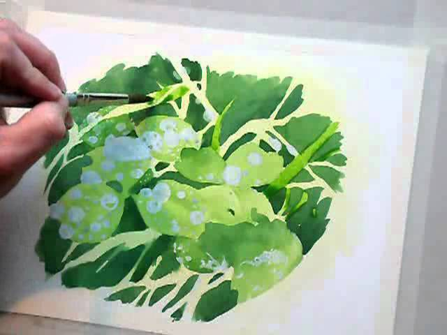 Wet Leaves - Full 60min Watercolour Painting