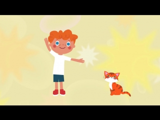 Песенки для детей - Рыжая кошка , развивающая, обучающая песенка про кошку