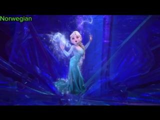 Диснеевские принцессы поют песни на своих родных языках
