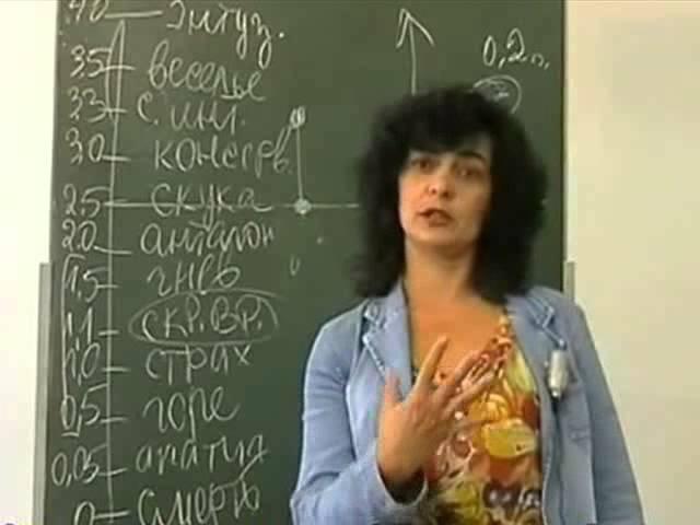 Лекция Марины Грибановой о вреде наркотиков и как это связано с Эмоциональной шкалой тонов Л. Р. Хаббарда