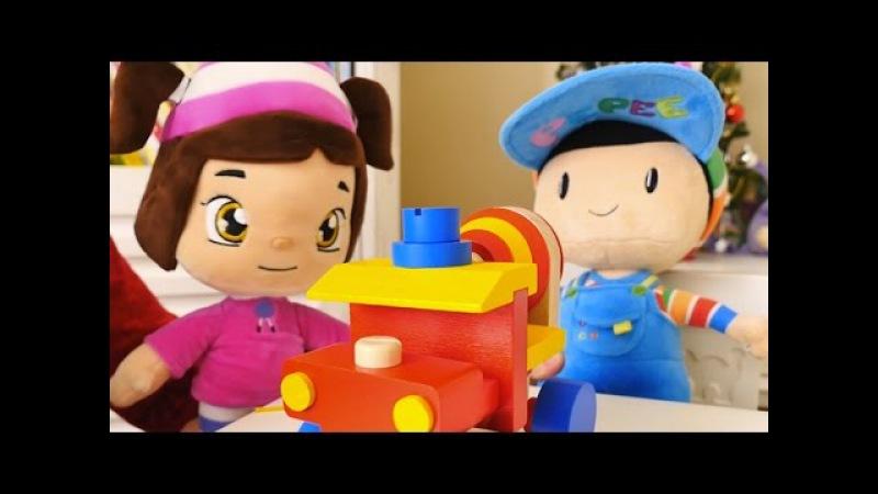 Çizgi film - Pepee ve Leli Beton kamyonu Yap Boz Oyuncak topluyor