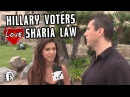 Hillary Supporters Endorse SHARIA LAW in AMERICA!