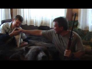 Охота на медведя. Схватка