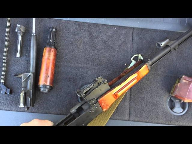 Списанный, охолощенный АКМ-СХП. Обзор и стрельба.