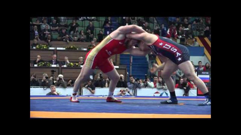Ярыгин - 2016. 97 кг. Анзор Болтукаев (Россия) - Джейк Уорнер (США). Финал