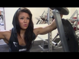Muscle girl Sophie Arvebrink- Heavy back workout