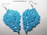 Tutorial orecchini ananas o foglia ad uncinetto . Crochet earrings (parte 1)
