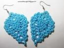 Tutorial orecchini ananas o foglia ad uncinetto . Crochet earrings (parte 1)