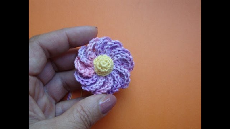 Вязаный крючком цветок Урок 43 Сrochet flower pattern for free » Freewka.com - Смотреть онлайн в хорощем качестве