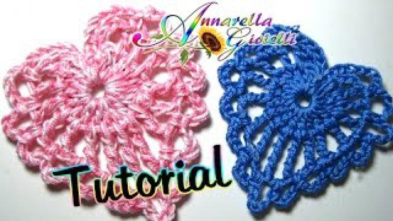 Tutorial piccolo cuore all'uncinetto   How to crochet a heart