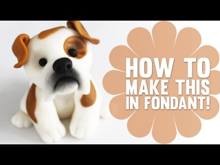 (vk.com/LakomkaVK) How to create a cute Bulldog Cake Topper