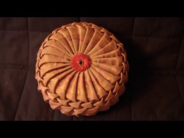 Буфы схема Чешуя, декоративная подушка.