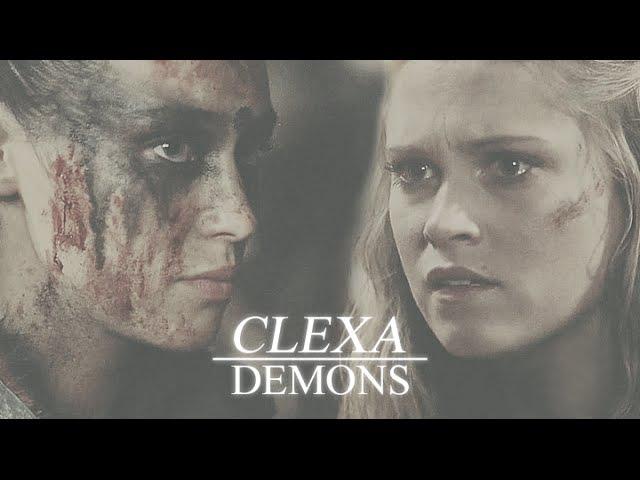 The 100    Clarke Lexa ๑ Demons