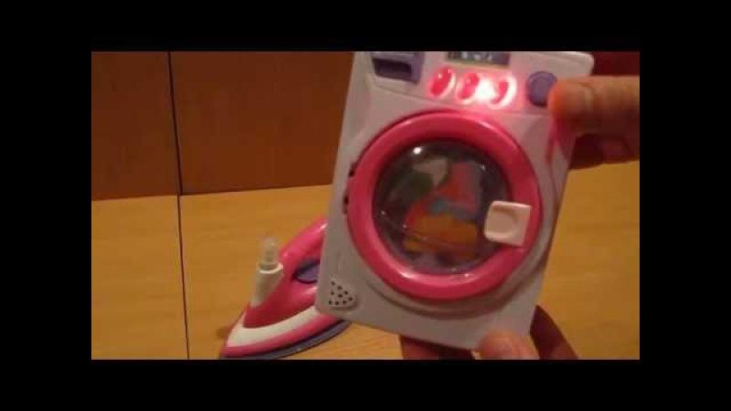 Обзор детских игрушек - Бытовая техника 2в1: Стиральная машина + Утюг с распылителем (kidtoy.in.ua)