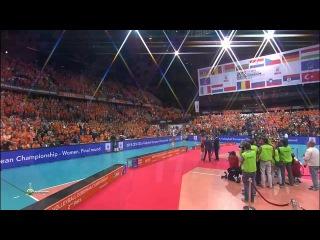 Голландия-Россия. 1ч. Финал. 04.10.15. Волейбол. Женщины. ЧЕ 2015