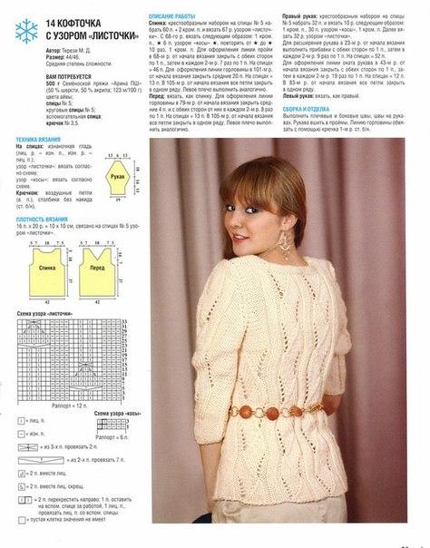 Вязание блузок для женщин