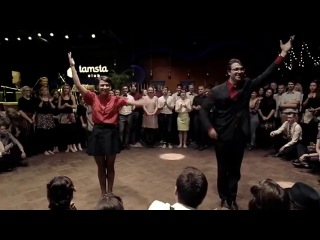 Arnas Jasiunas and Kamile Pundziute: Lindyhop.lt Kalėdos'15