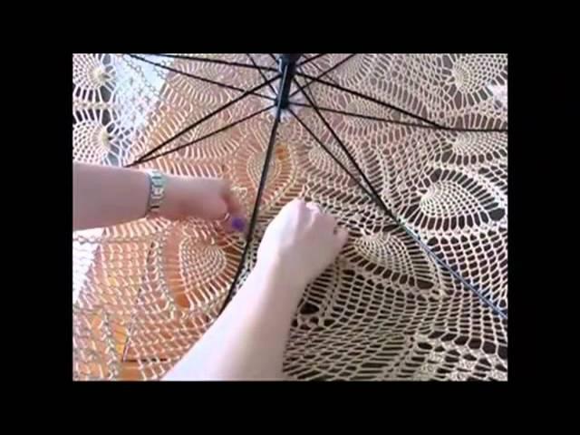 Как изготовить кружевной зонтик-парасоль.mp4