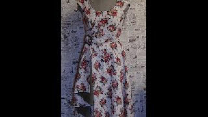 Как сшить платье 3: рукав на пол проймы / How to sew a dress 3