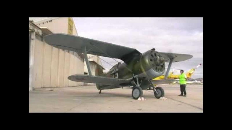 Polikarpov I-153 Tchaika Engine Startup » Freewka.com - Смотреть онлайн в хорощем качестве