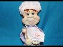 МК кукла из колготок Повар пекарь ❀ DIY doll of pantyhose Cook