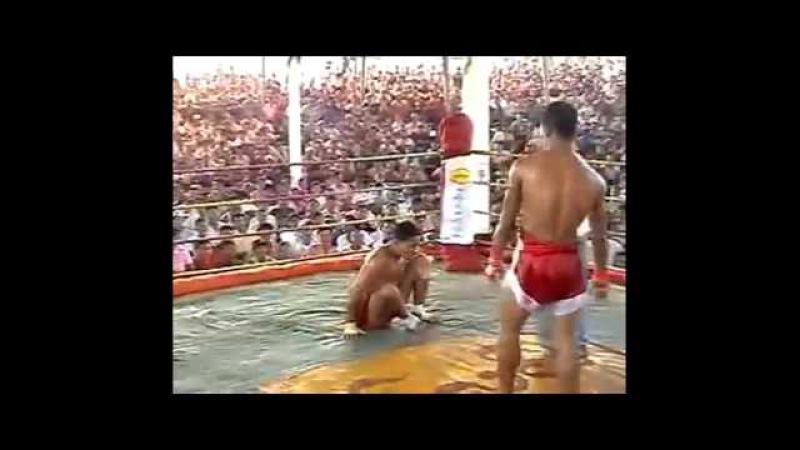 Brutal Burma vs Muay Thai fight no gloves
