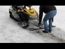 Подкатная тележка для снегохода Т образная