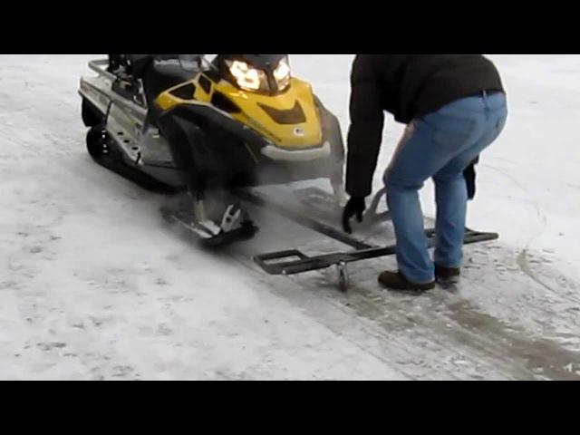 Подкатная тележка для снегохода Т-образная