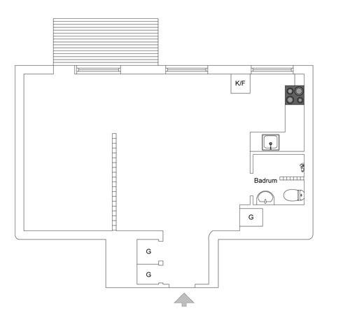 Интерьер квартиры 44 м.