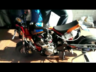 Honda Monkey 600 кубов, установка Закиси азота.