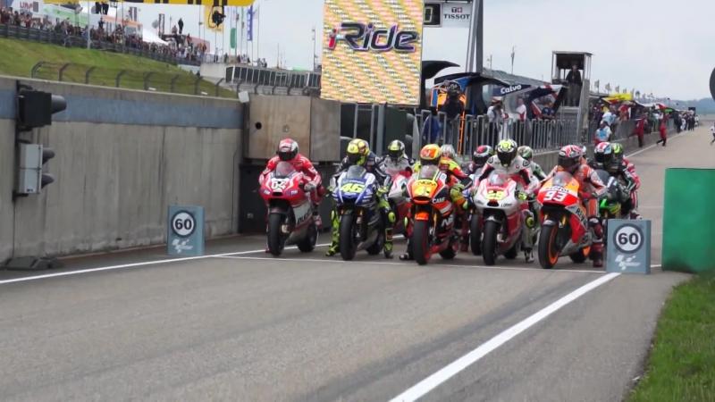 Big Pitlane Start in Sachsenring [MotoGP 2014]