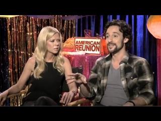 Tara Reid amp; Thomas Ian Nicholas talk American Reunion - JoBlo.com (Low)