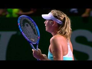 На итоговом турнире года женской теннисной ассоциации в Сингапуре вторую победу одержала М.Шарапова - Первый канал