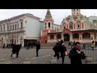 Москва, Красная площадь, звон колоколов собора Казанской Иконы Божией Матери