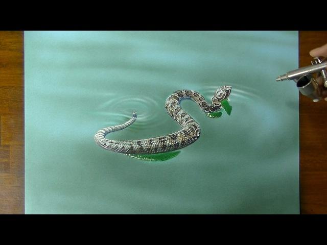 Змея 3D Art