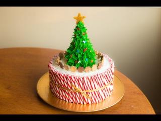(vk.com/LakomkaVK) How To Make A Christmas Cake!