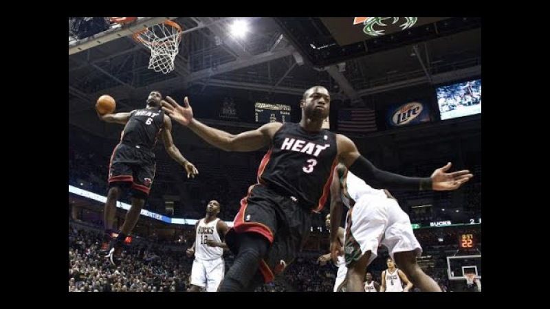 Dwyane Wade To LeBron James Alley Oop's (Compilation)