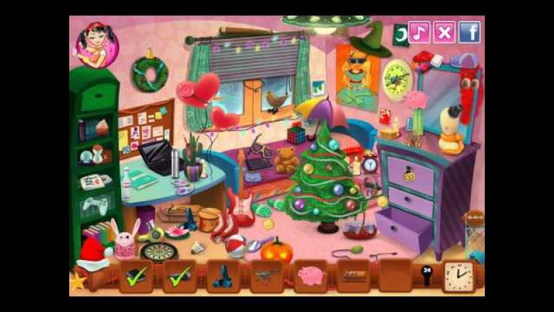 NEW мультик онлайн для девочек—Эмма рождественская комната—Игры для детей