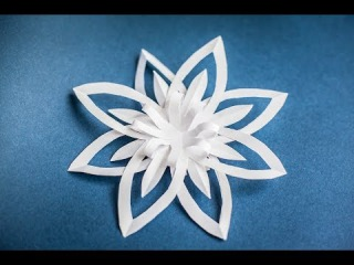 Оригами. Origami. Снежинка из бумаги / Snowflake paper / Hand made 折り紙, 종이 접기