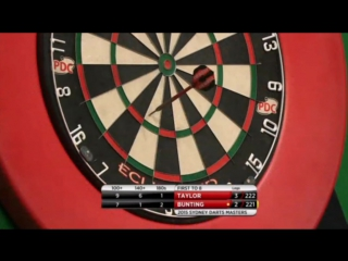 Phil Taylor vs Stephen Bunting (Sydney Darts Masters 2015 / Quarter Final)