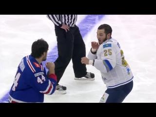 Драки КХЛ - Артюхин и Рыспаев.