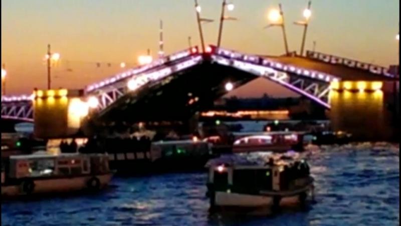 июнь 2015, Дворцовый мост, вид с Английской набережной.