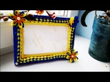 Рамочка для фото с Цветами Канзаши